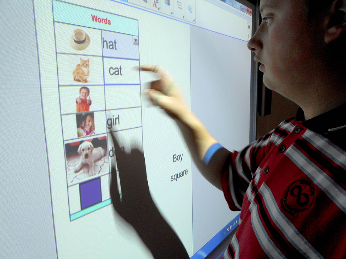 Each classroom across the school is equipped with amazing interactive whiteboards, enabling students to get up and actively participate in learning activities.