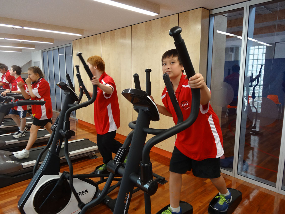 Located in our School Hall, is a special Gym Room, with a range of great equipment to improve student's mobility and general health and fitness levels.