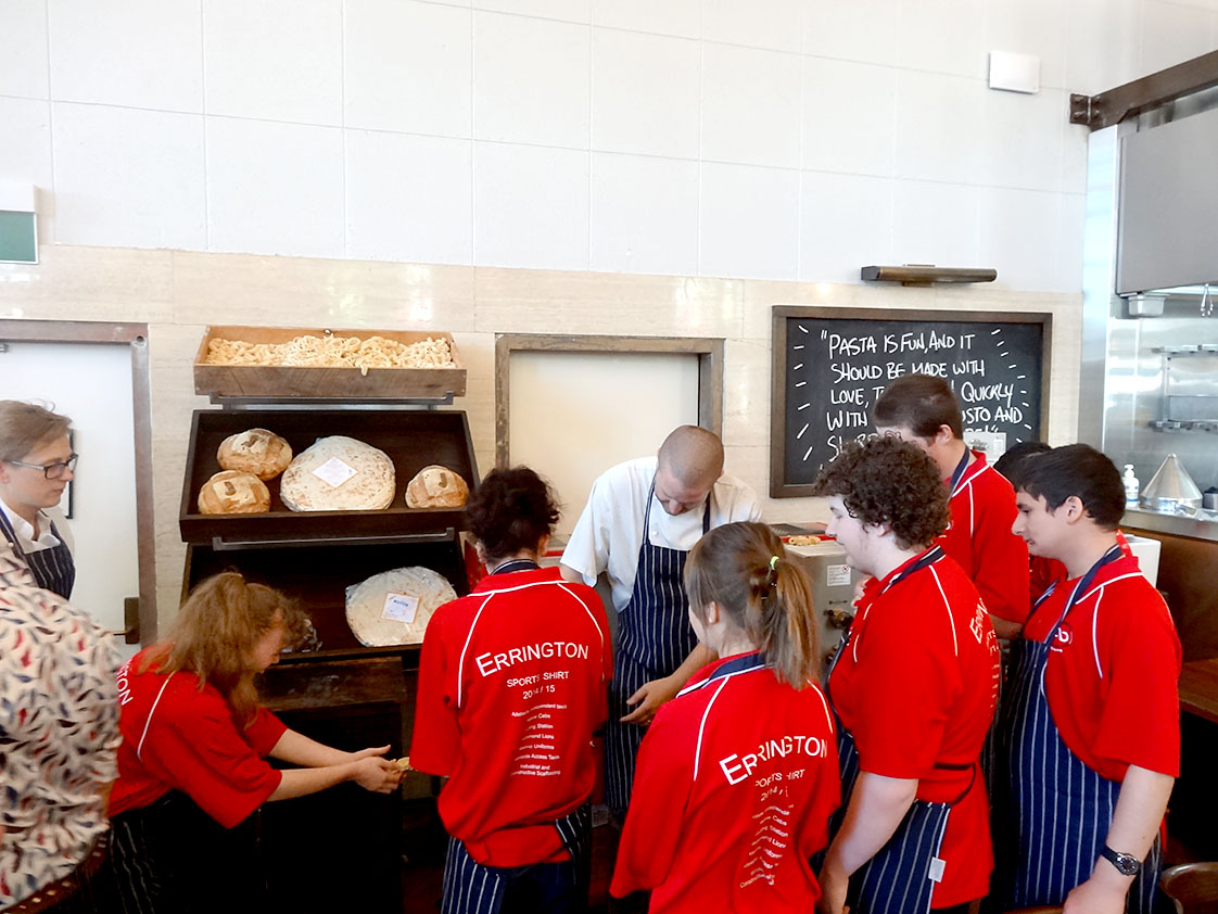 Students visit Bakers Delight at Kurralta Park for some special behind the scenes introductions to working in a bakery.